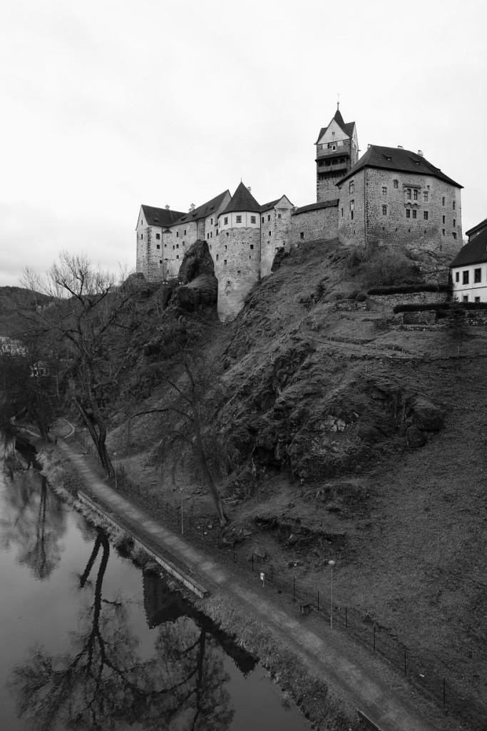 Klasický pohled na hrad z mostu