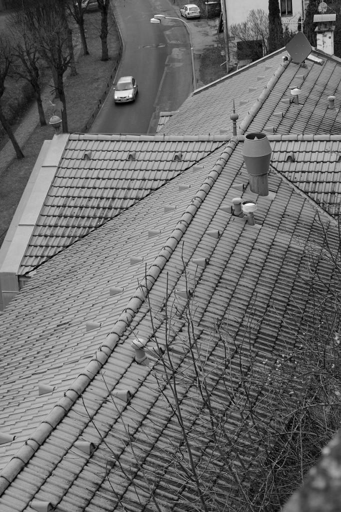Pohled na střechu